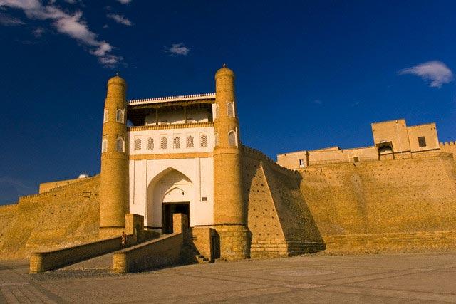 Entrance to the Ark fortress, Bukhara, Uzbeki