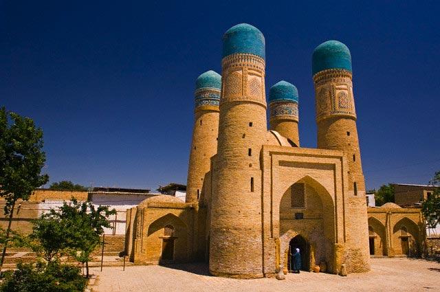 Chor Minor Madrassah, Bukhara, Uzbekistan