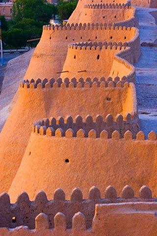 Town walls, Khiva, Uzbekistan