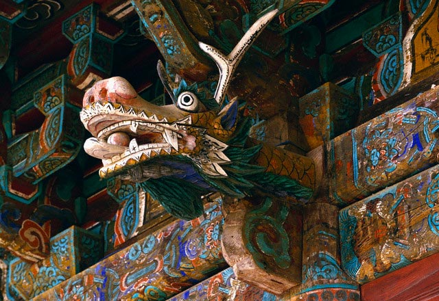 Dragon Sculpture on the Main Building of the
