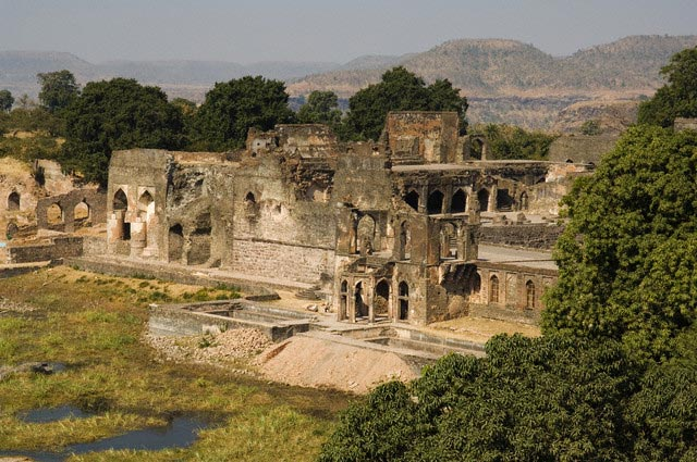 Champa Baoli in the Royal Enclave Ruins