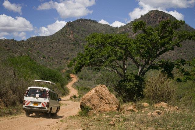 Safari Van in Tsavo West National Park