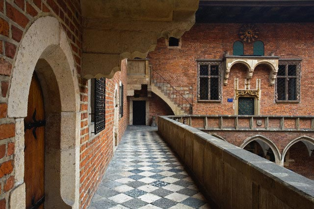 Balcony Overlooking the Gothic Cloister of Co