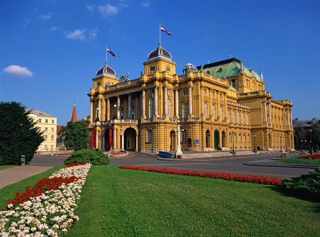 Croatian National Theatre in Zagreb, Croatia