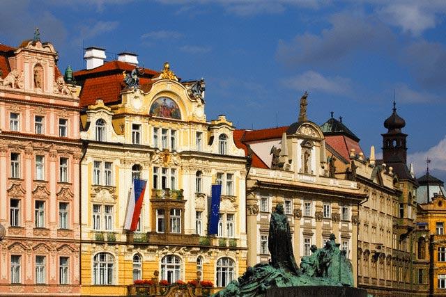Colorful Building Facades in Prague