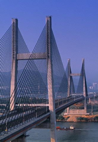 Tsing Ma suspension bridge, Hong Kong, China