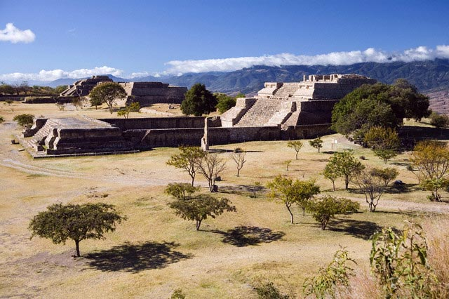 Archaelogical ruins of Monte Alban, ancient c