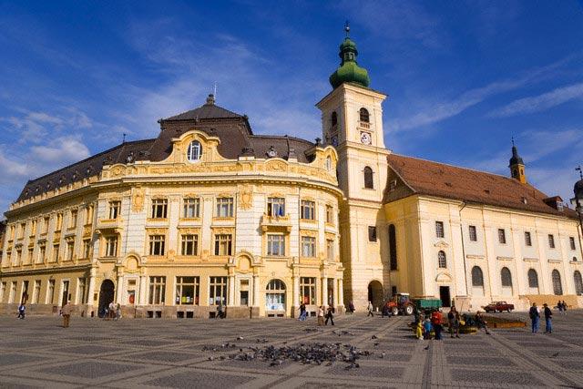 Roman Catholic Cathedral, Piata Mare, Sibiu,