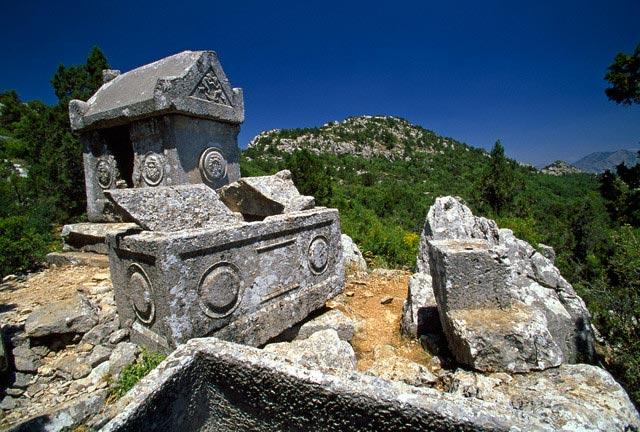 Broken Sarcophagi and Tomb