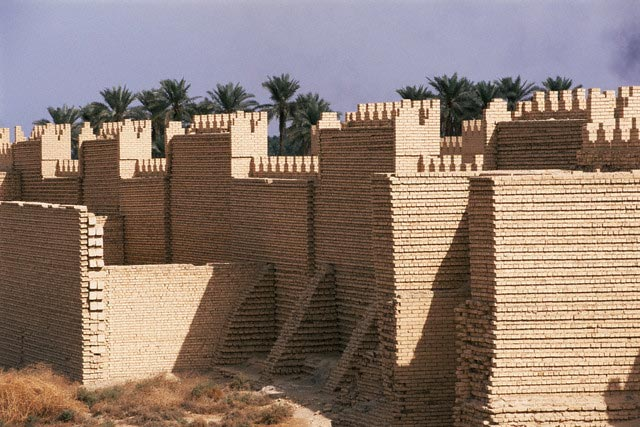 Restored Ruins of Babylon City Walls