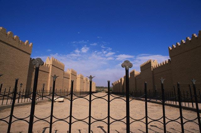Babylonian Ruins and Street