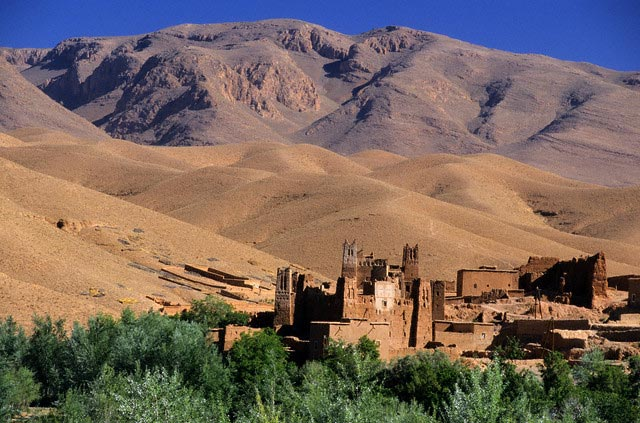 Ait Arbi Casbah at the Foothills of Mountains