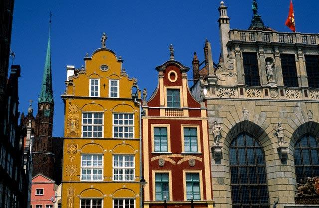 Colorful Buildings in Gdansk