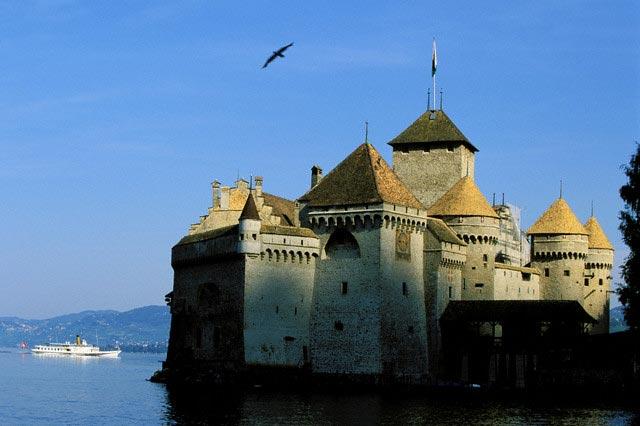 Chateau de Chillon on Lake Geneva