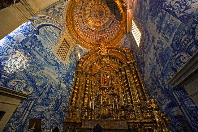 Azulejo Tiles in Interior of Church of Sao Lo