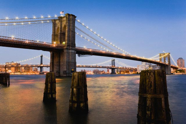 Brooklyn Bridge and Manhattan Bridge at Twili