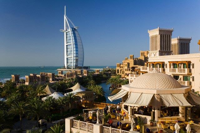 Burj Al Arab Hotel and Madinat Jumeirah