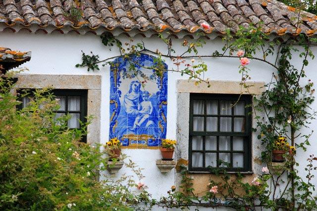 Azulejo Tilework Outside Portuguese Building