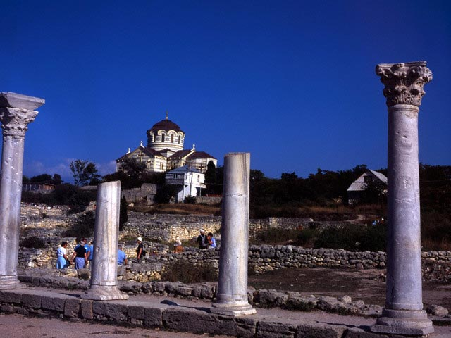 Chersonesus Ruins and St. Vladimir Cathedral
