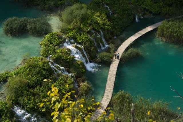 Boardwalk Crossing the Plitvice Lakes in Croa