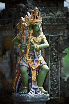 Symbolic wood carving statue, Bali, Indonesia