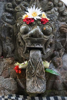 Rock carving of mythical Hindu demon, Batubua