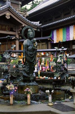 Buddha statues, Zenko-ji Temple, Nagano, Japa