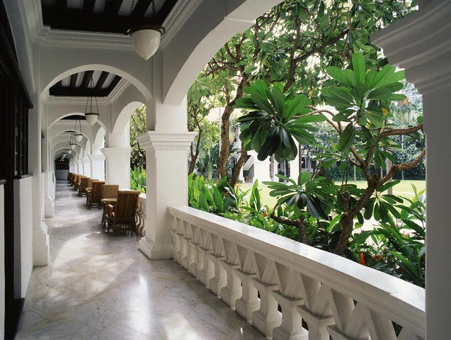 Corridor at Raffles Hotel