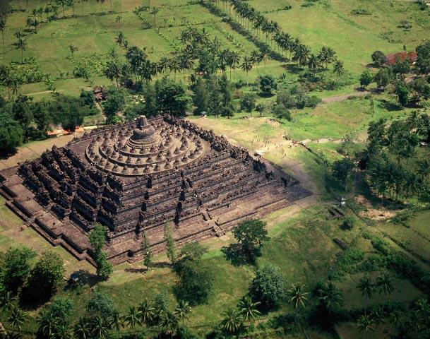 Aerial View of Borobudur