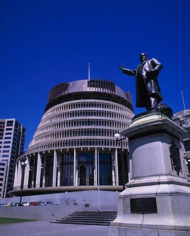 The Beehive in Wellington
