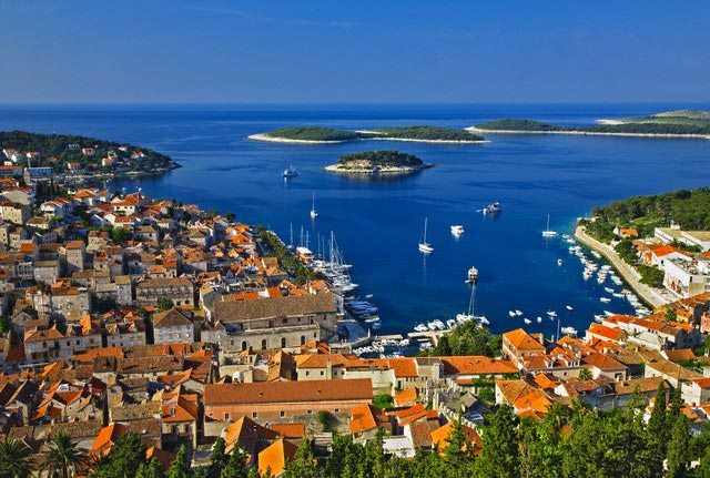 Town of Hvar on Hvar Island in Croatia