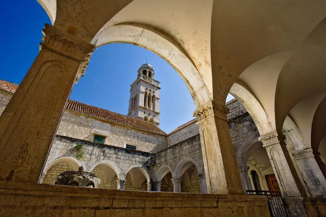 Franciscan Monastery on Hvar Island in Croati