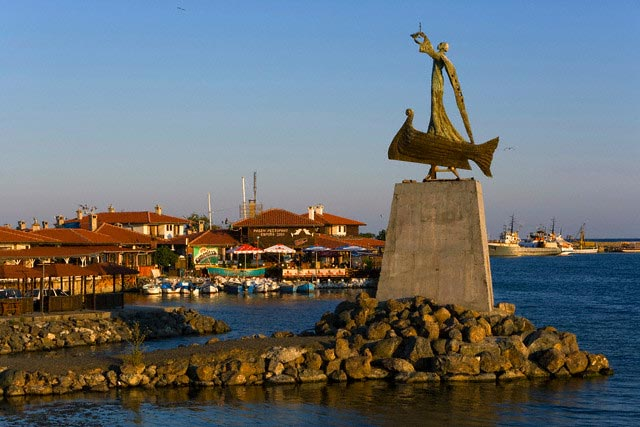 Bulgaria, Black Sea Coast, Nesebar, Sculpture