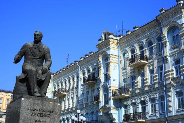 Monument to Mykola Lysenko, Ukrainian compose