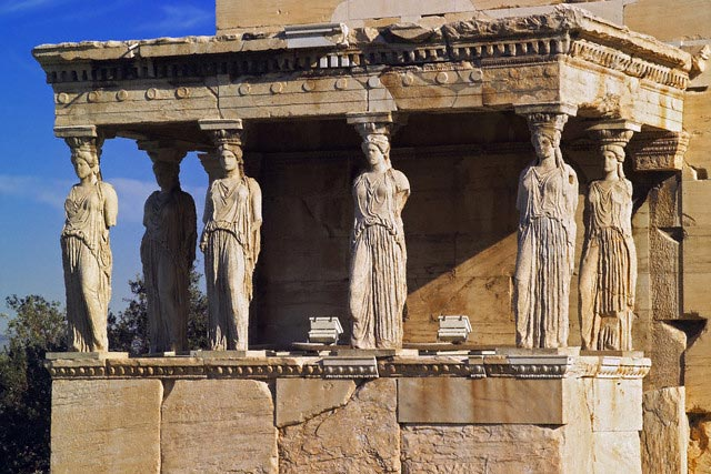 The Erechtheion and porch of the Caryatids