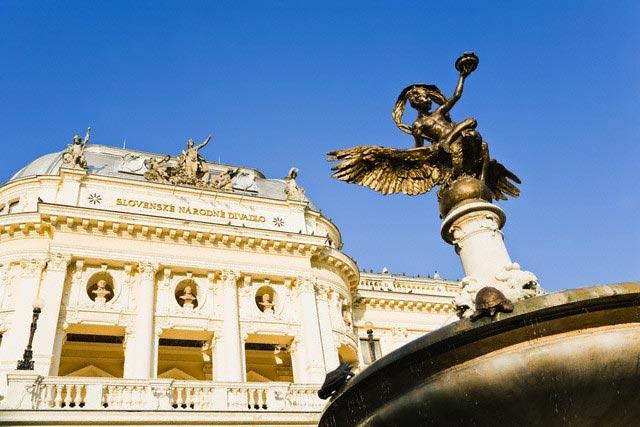 Slovak National Theatre and Ganymede's Founta