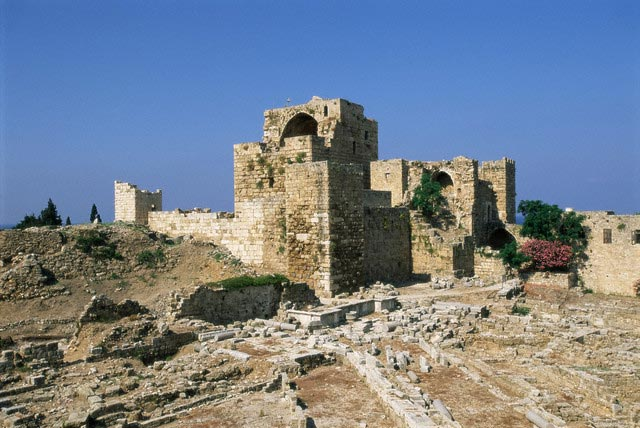 Crusader castle, ancient town of Byblos (Jbai