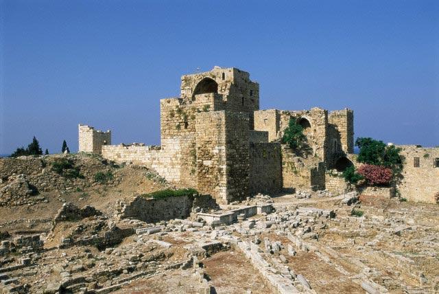 Crusader castle, ancient town of Byblos (Jbai