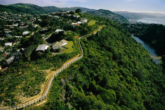 Perimeter of Karori Wildlife Sanctuary in New