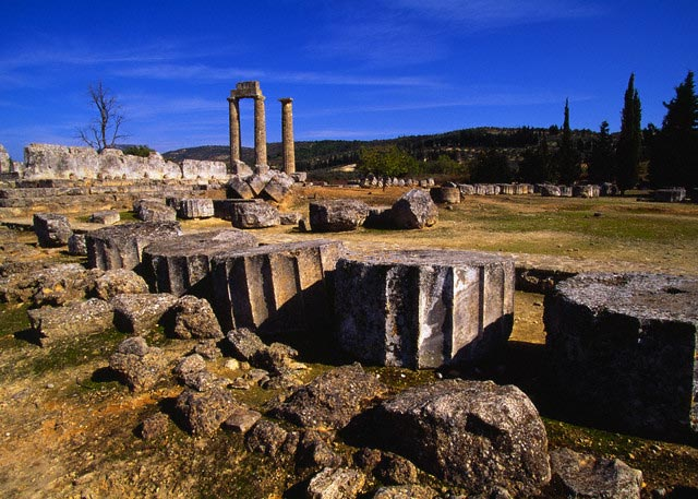 Ruins of the Temple of Zeus at Nemea