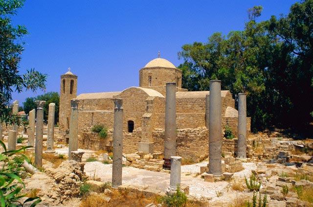 St. Paul's Pillars, Paphos, Cyprus, Europe