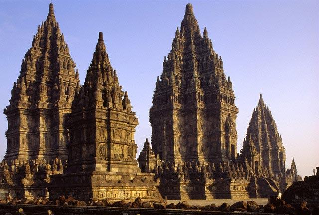 Candis at Prambanan Temple Complex