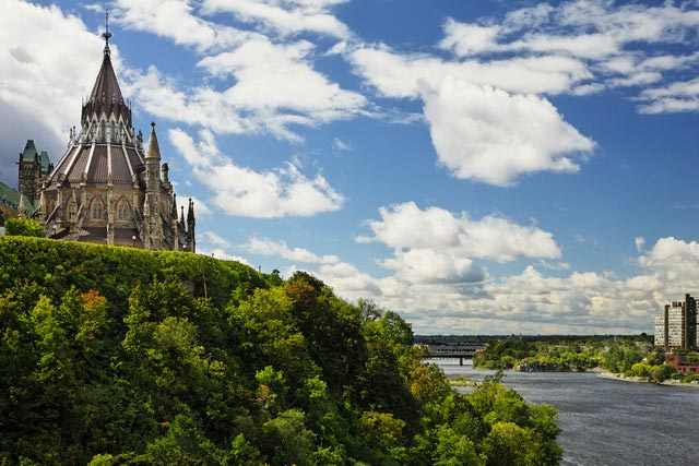 Library of Parliament and Ottawa River