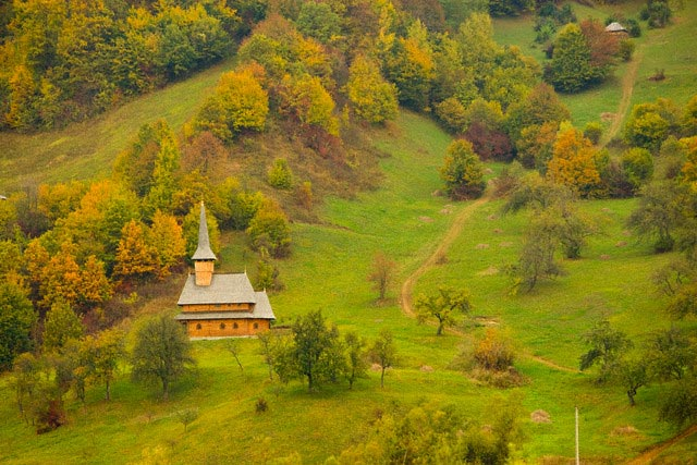 Romania, Maramures, traditional wooden church
