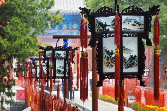 Lanterns at Dongyue Temple
