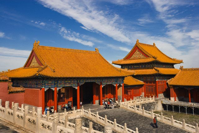 The Forbidden City or Palace Museum in Beijin