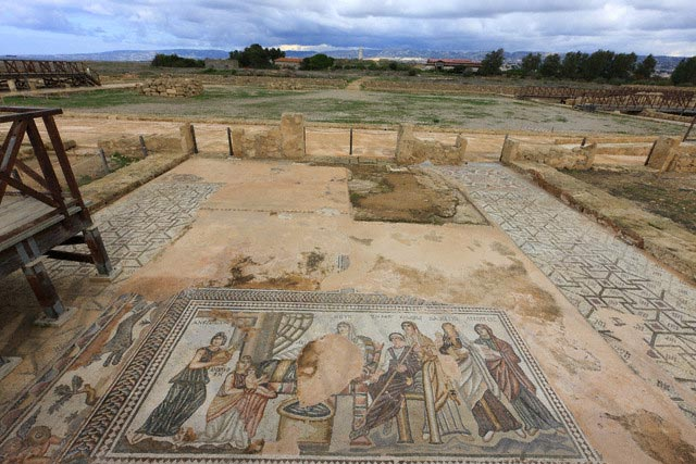 Archaelogical Park of Kato Paphos with a Mosa