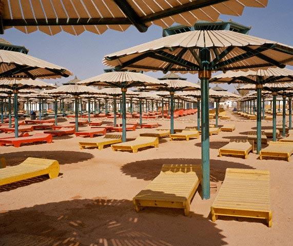 Empty Beach in Sharm el-Sheikh