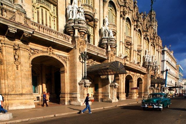 Facade of the Gran Teatro de la Habana