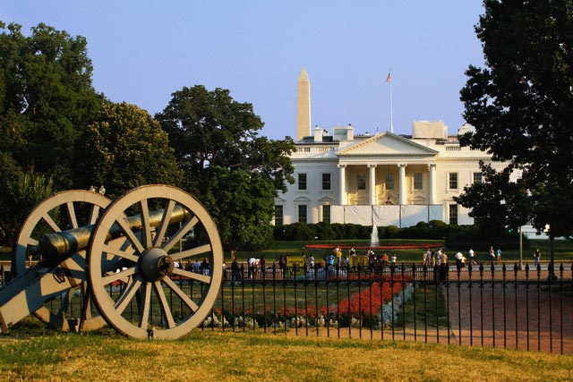 Tourists Outside White House